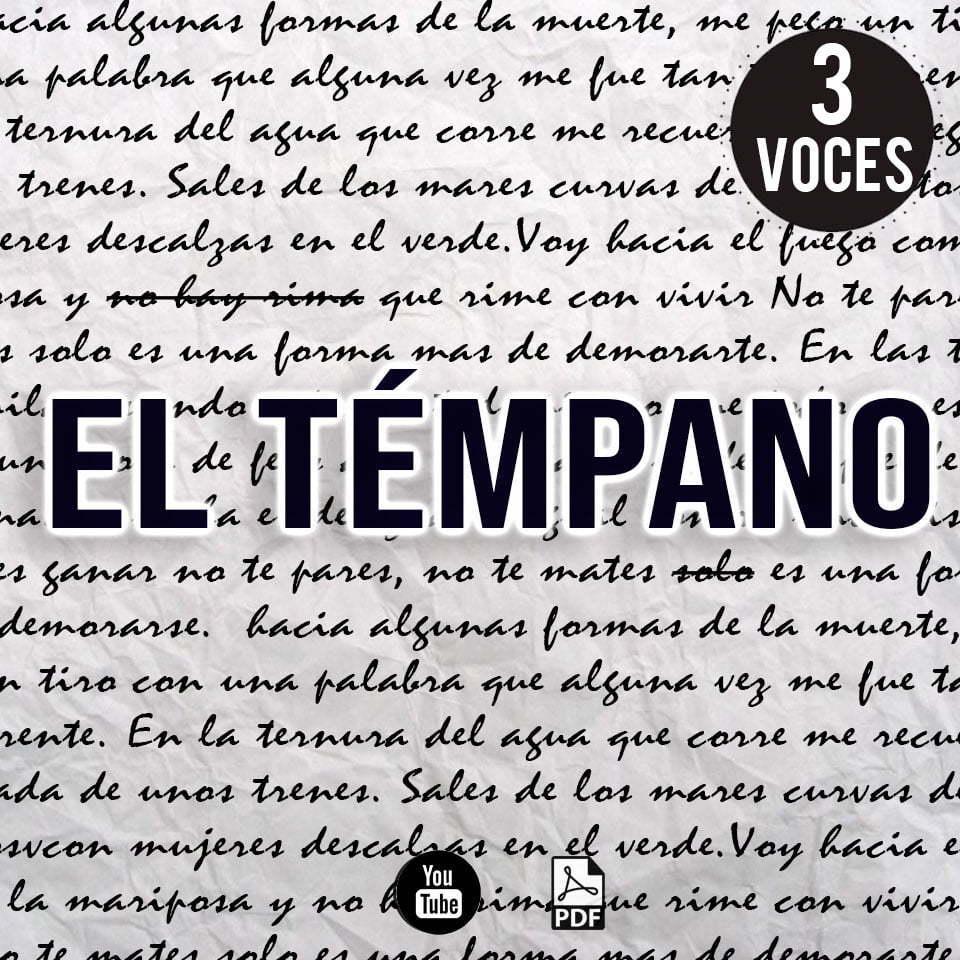 El tempano partitura para coro Baglieto partituras de musica argentina para coro en pdf